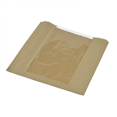 Bio Compostable Window Bags (10 x 10 Inch) Pack of 25