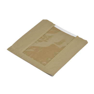 Bio Compostable Window Bags (8.5 x 8.5 Inch) Pack of 25